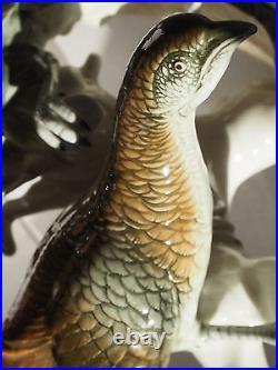 12 Large Karl Ens German Pair Birds Pheasant Mating Courting Figure Signed 30's