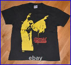 1991 OZZY OSBOURNE vtg rock concert tour t-shirt (L) Autographed Zakk Wylde