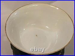 Antique Chinese Large Lidded Bowl Signed