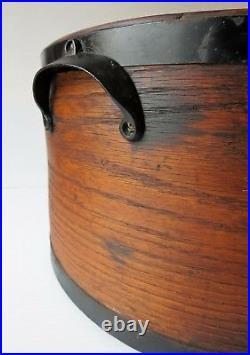 Antique EXTRA LARGE WOODEN GRAIN MEASURE J. B. PLUMMER & CO