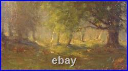 Antique Large 1912 Joseph Greenwood Early Autumn Landscape Painting