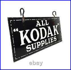 Antique Large Enamel Kodak Advertising Shop Sign by Cooper Bond of London c. 1925