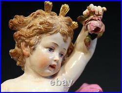 Antique Meissen Allegorical Day Figure Porcelain German Signed Large 14 Repairs