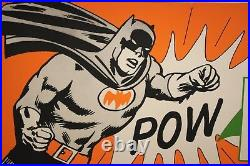 Batman All-Star Fruit Drink Large Store Sign 1966 VF/VF+ 1966 24 x 44