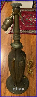 Bradley and Hubbard Iron Lamp Base Large, Signed, and Ornate c1900's VGC