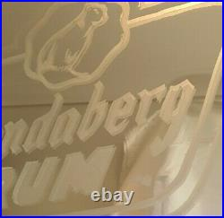 Bundaberg Rum Bar Sign Mirror Vintage Collectable Wooden Frame Australia