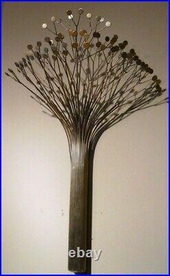 C. Curtis Jere Signed Large Rare Tree 1977 vintage metal sculpture