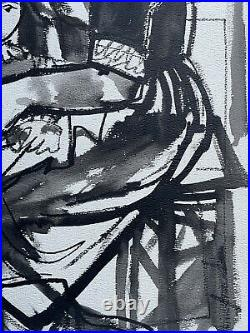 Carlos Carnero (1922-1980) Large Original Painting Fernand Leger Assistant