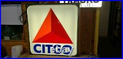 Citgo gas sign large light up sharp man cave vintage antique restaurant bar wall