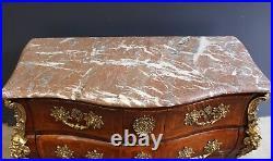 Complete Set! Large 18thC Vase, Signed Louis XV Commode, Candelabra, Mirror