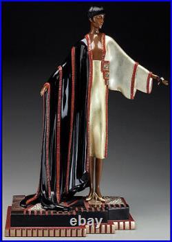 ERTE Signed BRONZE Sculpture MICHELLE Original Romain de Tirtoff antique LARGE