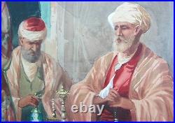 Fine & Large 27 Italian Orientalist Painting CIRO MAZINI, c. 1890 antique