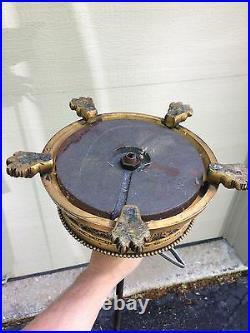 Great orig. C1930's signed Crest Co. Chicago Gilt Bronze Standing Floor Lamp 61