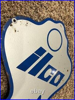 Ilco Key Sign Double Sided Metal Large Figural Hardware Store Advertising 32