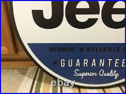 JEEP 4x4 Off-road Large Metal Motor Diesel Oil Gas Pump Vintage Style Wall Lift