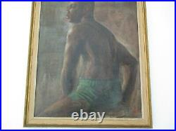 Joe Stiles Antique Vintage African American Portrait Large Male Handsome Man