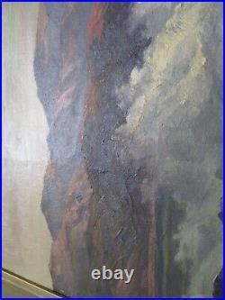 John Anthony Connor Oil Painting Large Antique Coastal Laguna Beach Sea Sunset