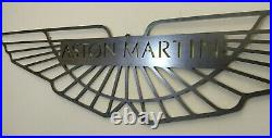 LARGE Aston Martin Car Logo Metal Sign Hand Finished Vintage Car Wall Art