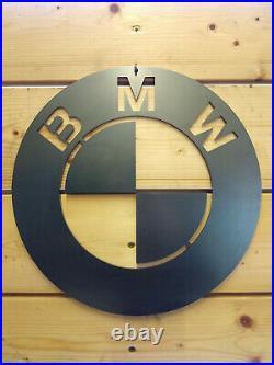 LARGE BMW Car Logo Metal Sign Hand Finished Man Cave Wall Art car M Sport