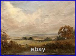 LARGE FINE F E. JAMIESON ANTIQUE 19th CENTURY BRITISH OLD MASTER OIL PAINTING