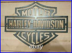 LARGE Harley Davidson Metal Sign Hand Finished Man Cave Motor Cycle bike