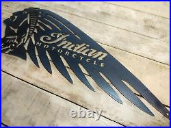 LARGE Indian Motorcycle head Metal Sign Hand Finished Vintage motor bike wall