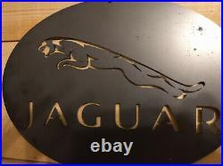 LARGE Jaguar Metal Wall Sign Handmade vintage Man Cave Car Garage Vintage