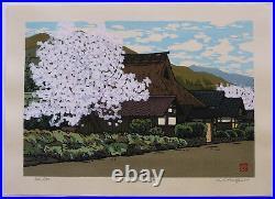 LARGE Lt ED SIGNED JAPANESE WOODBLOCK PRINT KATSUYUKI NISHIJIMA HARU NE WA TOCH