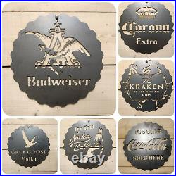 LARGE Triumph Motor Cycle Bike Metal Wall Sign Raw Steel Hand Finished Vintage