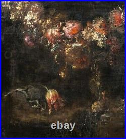 Large 17th century Dutch Old Master Still Life Flowers GASPER PIETER VERBRUGGEN