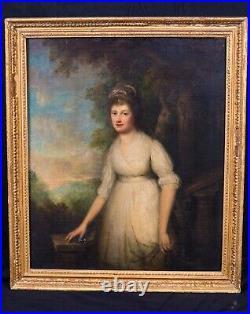 Large 18th Century English Portrait Actress Lady Mrs Sarah Siddons (1755-1831)