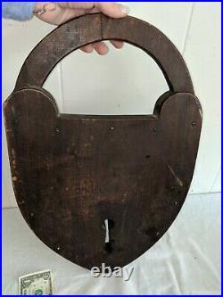 Large 19 Antique 1800's Locksmith Lock Repair Store Trade Sign Rare Advertising