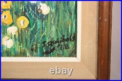 Large 1960's Vintage Big Eyes Painting Signed S. Archibald