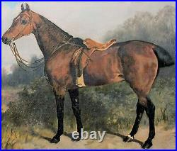 Large 19th Century Bay Hunter Horse Portrait of'GIPSY by Arthur BATT