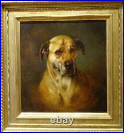 Large 19th Century English Mastiff Dog Portrait William Weekes (1856-1904)
