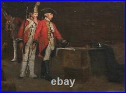 Large 19th Century Jacobite Rising 1745 British Soldiers Interior Scene