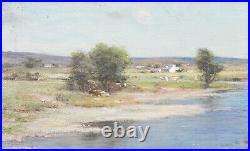 Large 19th Century Scottish Impressionist River Landscape Joseph HENDERSON RSA
