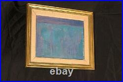 Large 20th Century Blue Abstract Composition Camille SOUTER (1929) signed 1959