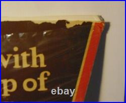 Large 30 Antique Old Vintage 1930s Hill Bros. Coffee Graphic Advertising Sign