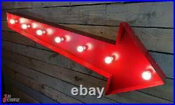 Large 6' Ft Retro American Arrow Sign Garage Gas Monkey Style Workshop Home