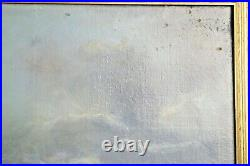 Large Antique Nautical Oil Painting CLIPPER SHIP Great Republic Ca. 1920