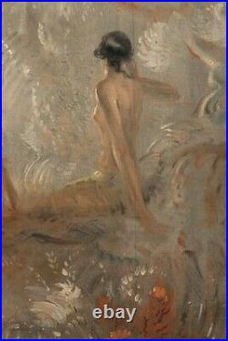 Large Early 20th Century Art Deco Nouveau Nude Women GEORGE KEWLEY (1862-1924)
