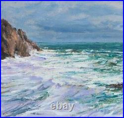 Large Early 20th Century Scilly Isles Seascape Scillonian Marine Oil Painting