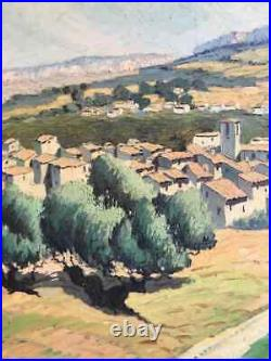 Large MID 20th Century French Impressionist Signed Oil Provencal Landscape