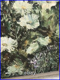 Large Mid C20th Floral Vintage Oil On Canvas, Signed, dated 1967 Dutch