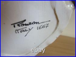 Large Mid Century Signed Ronzan, Italy Porcelain Tiger & Cub figure 23.5