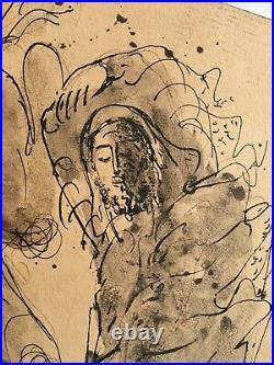 Large Reuven Rubin 1941 Rest Israeli Painting Antiques Judaica Jerusalem Art