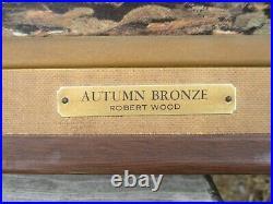 Large Robert Wood Autumn Bronze Painting Reliable Union 5932F Copy Print
