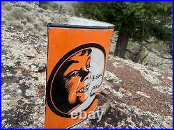 Large Vintage Antique Howdy Soda POP Embossed Bottle Cola Drink Round Metal Sign