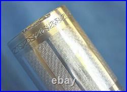 Large Vintage Art Deco Signed Napier Sterling Silver Engraved Trinket Vanity Box